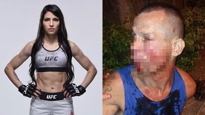 搶劫找上「UFC鋼鐵女」 巴西笨匪被2拳灌倒再絞首勒暈