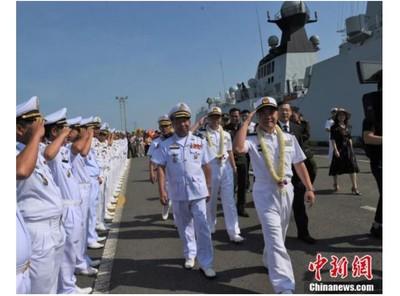 陸3軍艦訪柬埔寨 鞏固雙方同盟