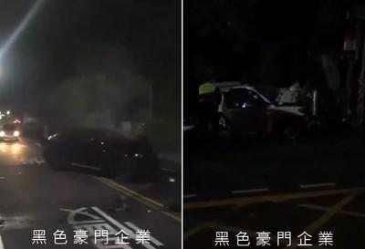 雙B駕駛酒駕逆撞彈飛 1死1重傷