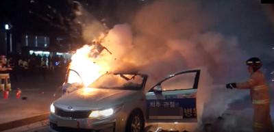 反對KAKAO共乘 韓2計程車司機自焚