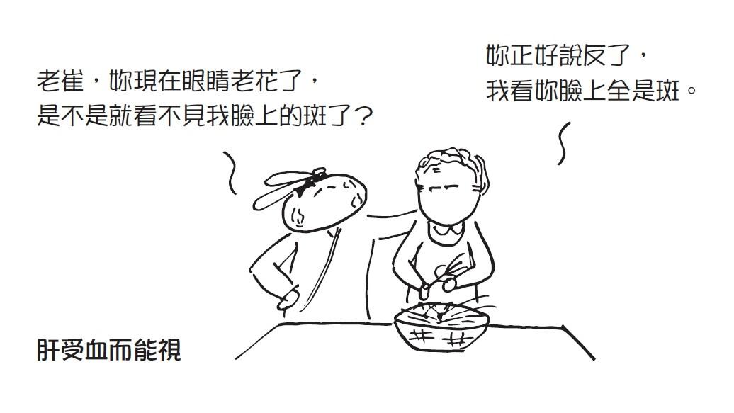 ▲《醫學就會:漫畫基礎中醫》肝臟血1 。(圖/時報出版提供)