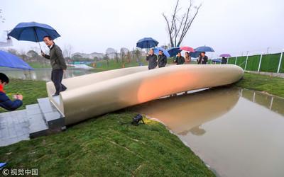 大陸首座投用3D列印橋梁上海亮相
