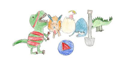 維州7歲女超萌恐龍上谷歌主頁!