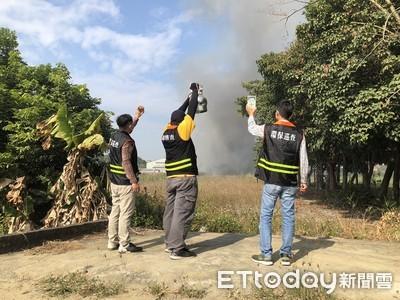 資收場大火 環保局環保署全程監控