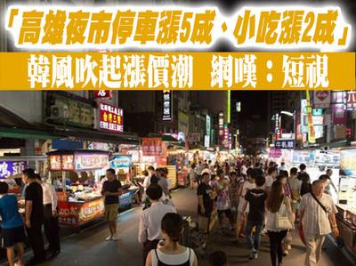 韓風吹起漲價潮 高雄夜市停車、小吃雙漲