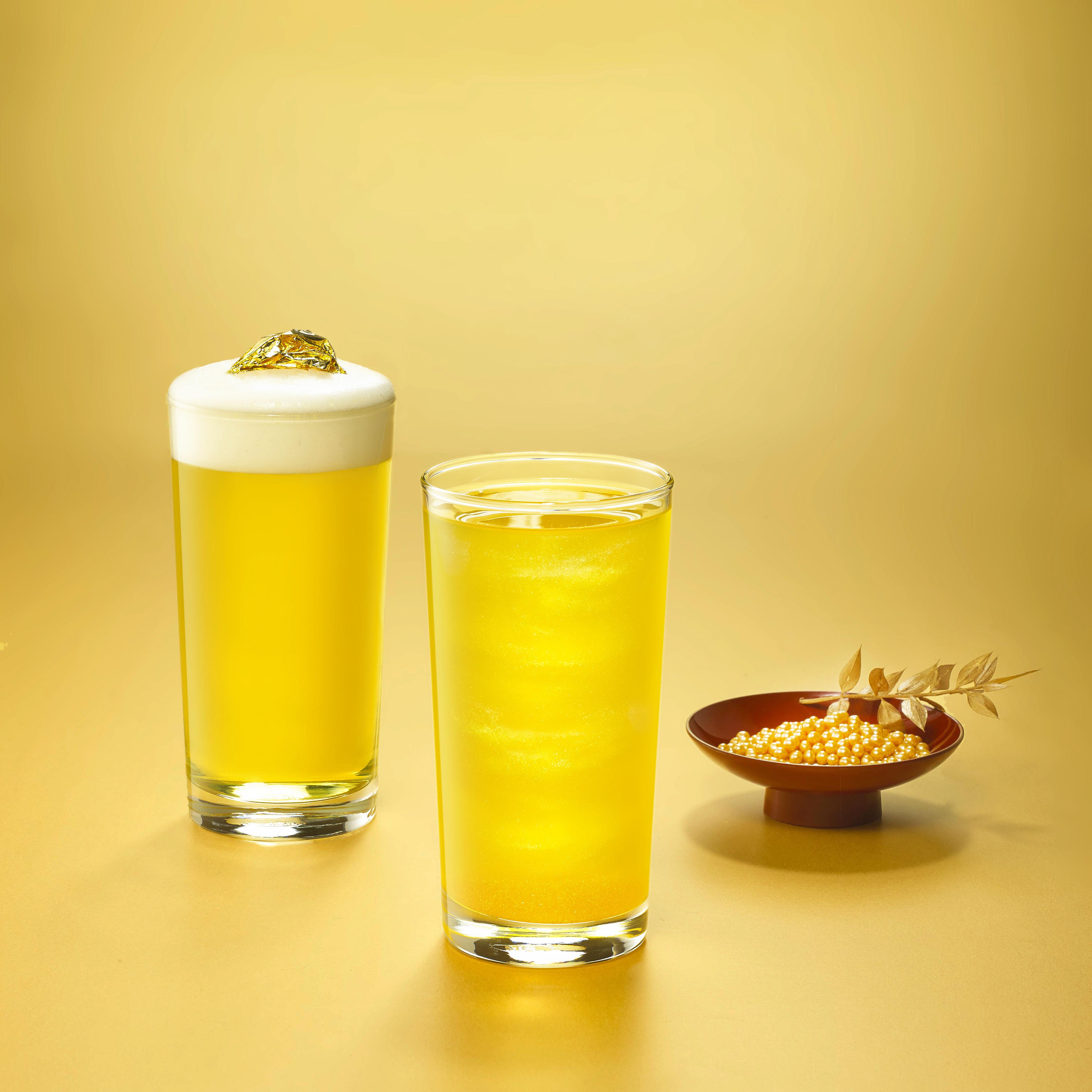 ▲▼金箔黃金烏龍茶(左)與黃金流星烏龍(右)。(圖/金品茶語提供)