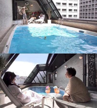 ▲NHK節目採用「那個泳池」當作背景。(圖/翻攝自推特/こんつぃ@kontwi)