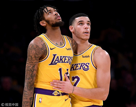 ▲▼博爾(Lonzo Ball)與英格雷(Brandon Ingram)。((圖/CFP)