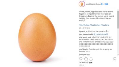 史上最普通的雞蛋!瞬間爆紅IG狂吸「3800萬讚」 隔壁棚馬鈴薯也一起夯