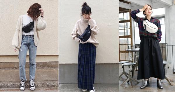 「腰包」3种个性穿搭学起来 让冬季衣着不无聊