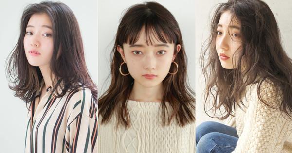 日本女生美发店指名率第一的「中长发」 搭配7款浏海任谁都好看极了