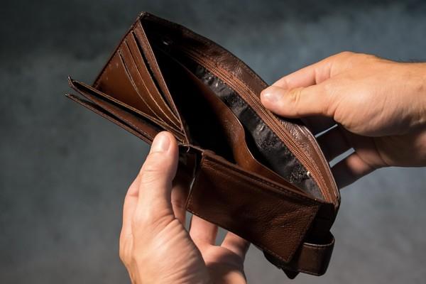 ▲▼錢包,空的,打開錢包卻是空的。(圖/取自免費圖庫Pixabay)