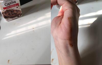 以為沾到巧克力 貓奴舔手吃到屎