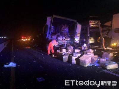 國道西湖段連環撞1死 4天前也有車禍