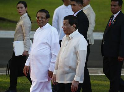 斯里蘭卡總統讚杜特蒂「世界榜樣」