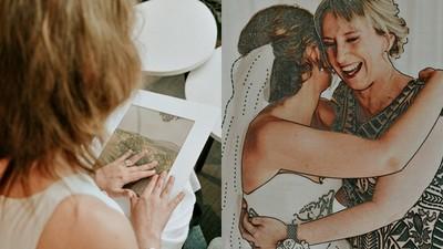 最好的禮物!婚攝為失明新娘製作「感官相簿」 用摸的就有聲音和香氣
