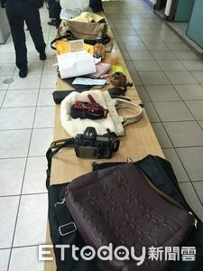 慣竊車停網咖旁被抓包 贓物擺滿警局