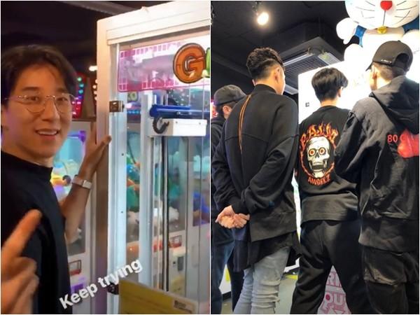 网友在首尔夜店巧遇柯震东、房祖名。 (图/翻摄自房祖名IG)