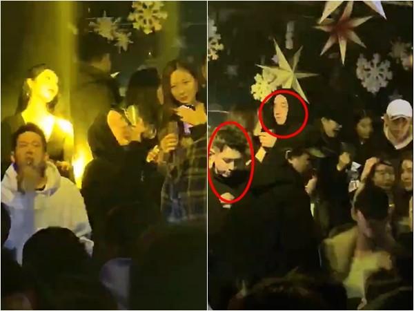网友在首尔夜店巧遇柯震东、房祖名。 (图/翻摄自Gaya娅娅微博)