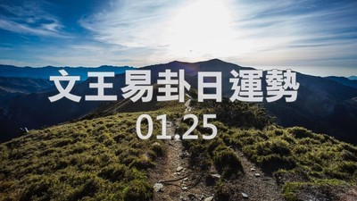 文王易卦【0125日運勢】求卦解先機