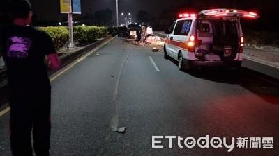 騎士逆向 與自小客車擦撞身亡
