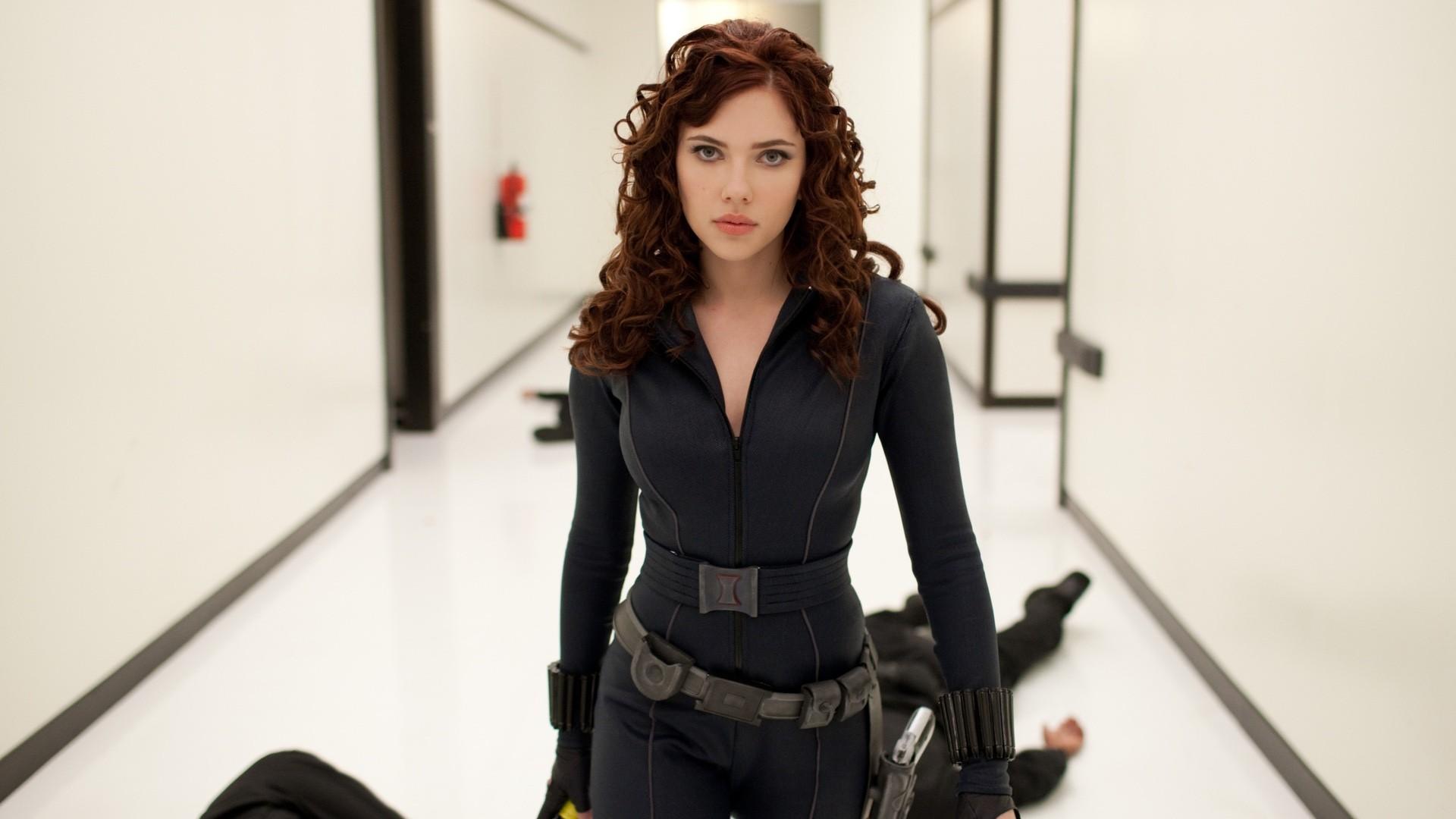 「黑寡婦」史嘉蕾喬韓森(Scarlett Johansson)。(圖/《鋼鐵人2》劇照)