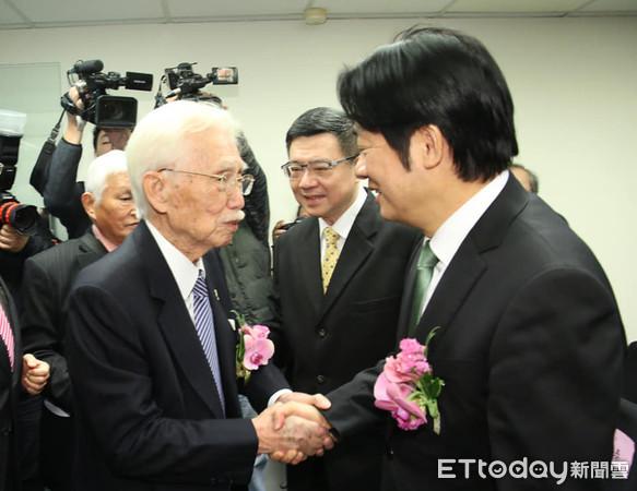 辜寬敏成立制憲基金會 賴清德:時機到了!台灣需要一部新憲法
