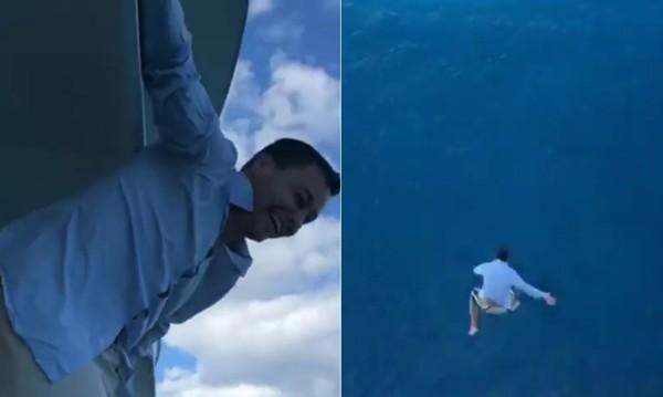 證明膽量!27歲男從郵輪11樓甲板跳海 嘆:屁股好痛...3天不能走路