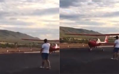 手機男站跑道拍照 下秒把飛機毀了