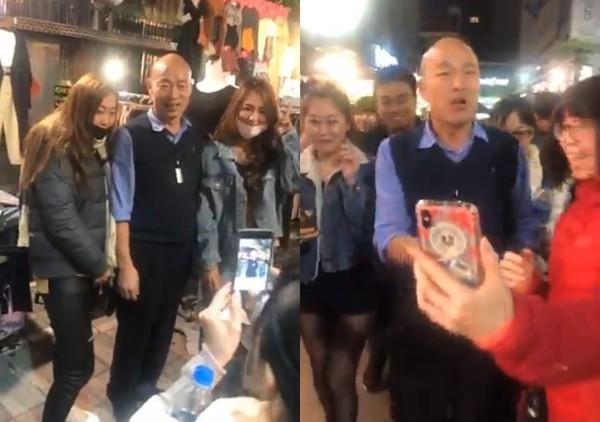 影/市長降臨!韓國瑜「突襲新堀江」逛街:來看生意怎麼樣