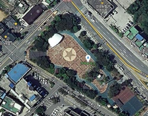 ▲▼南韓安城市奈兮忽廣場(圖/翻攝自Naver地圖)