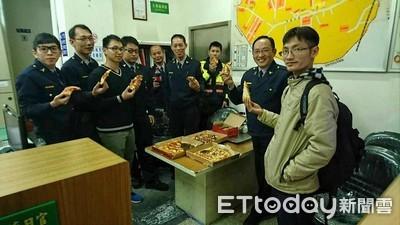 基隆警察有福利了!生日當天與家人慶生