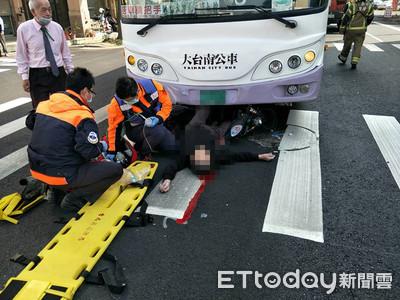 台南公車車禍 老翁捲進車底慘死