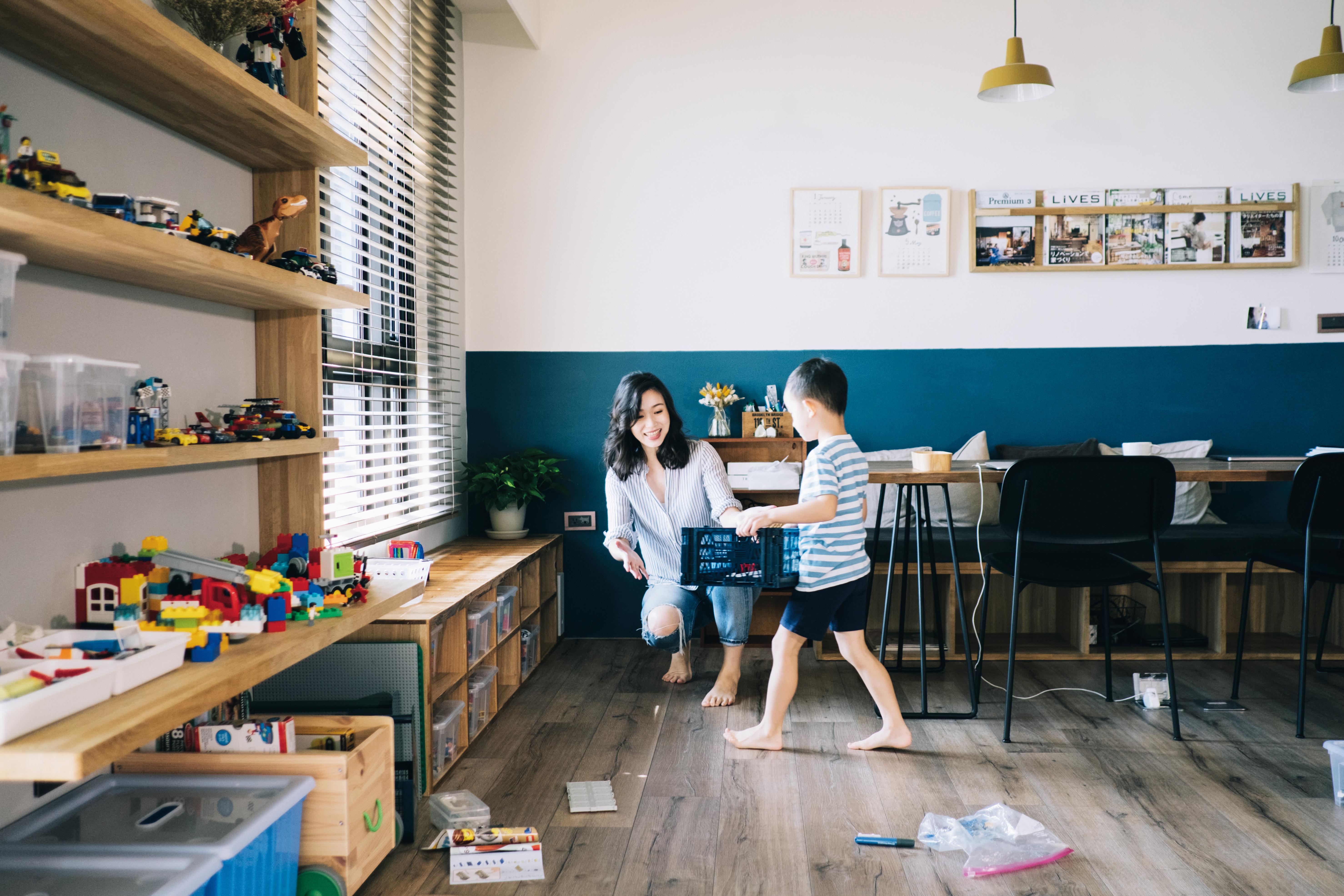 ▲通體舒暢的順手感‧家收納     有小孩仍能維持整潔。(圖/三采提供,請勿隨意翻拍,以免侵權。)
