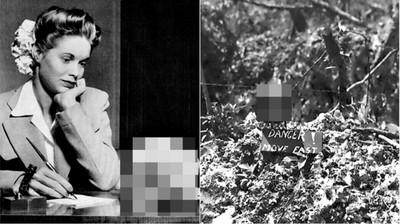 少女寫信給海軍男友...桌上擺著「死人頭骨」 戰爭敵軍屍體=戰利品