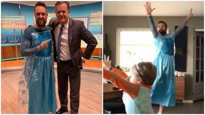 不以性別為刻板印象 4歲兒想「扮成艾莎女王」 暖爸陪他一起穿裙子