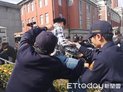 黎明幼兒園衝總統府 和警爆發推擠