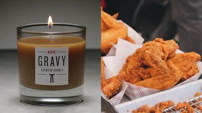 肯德基推出「炸雞味香氛蠟燭」 點燃油膩膩之火 真正的聞的到吃不到