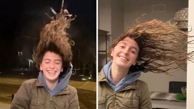 頭髮瞬間冰凍如鐵絲!美受極地渦旋侵襲 少女洗完頭出門樂歪