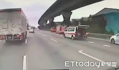 國道7車連撞 老翁「氧氣快用盡」急送醫