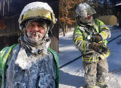 冷到崩潰!消防員救火「鬍子+裝備」全結凍