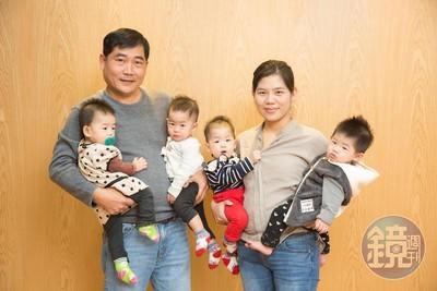 癌母生前牽線!夫妻「擲神笅結婚」生4胞胎