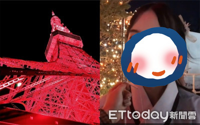 東京塔點中國紅 正妹著漢服參加