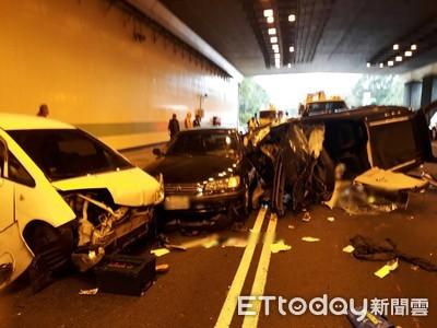 即/國道3號車禍 6車追撞1死2傷