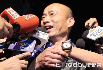韓國瑜笑秀新錶!竟然是王世堅送的