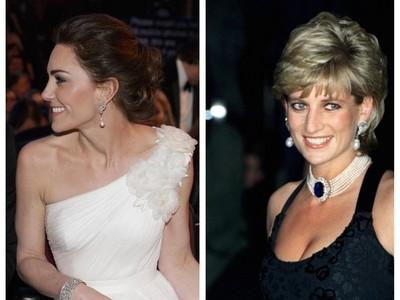 凱特稱霸紅毯 黛妃珠寶增光