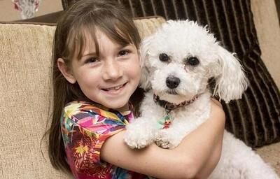 女孩靠靈犬才平安長大 1天救她100次