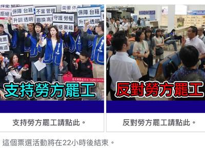 爆料公社罷工模擬投票 7成挺勞方