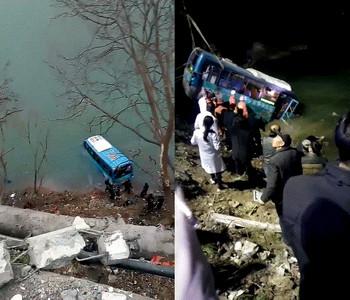 陝西公車突失控墜江 已知2死