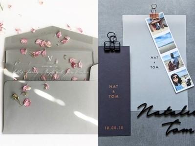 Dappei/深色調婚禮卡片更有質感